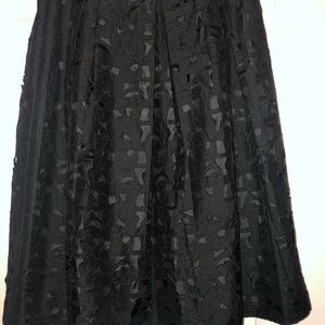 Talbots Black Silk Skirt Size 14